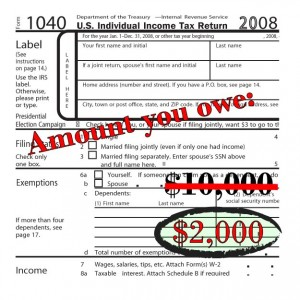 You owe $8,000 less