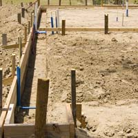 construction of a home's foundation