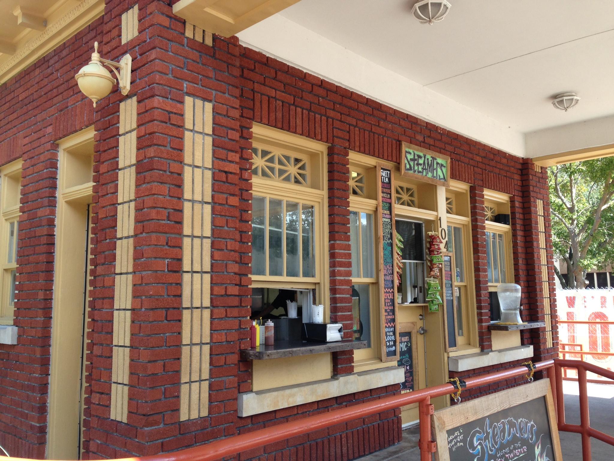 Steamers Restaurant Window