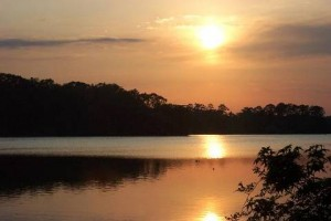 Sunset over Biven's Lake