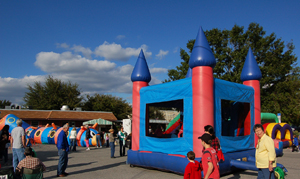 Bounce House Row ALACHUA HARVEST FESTIVAL