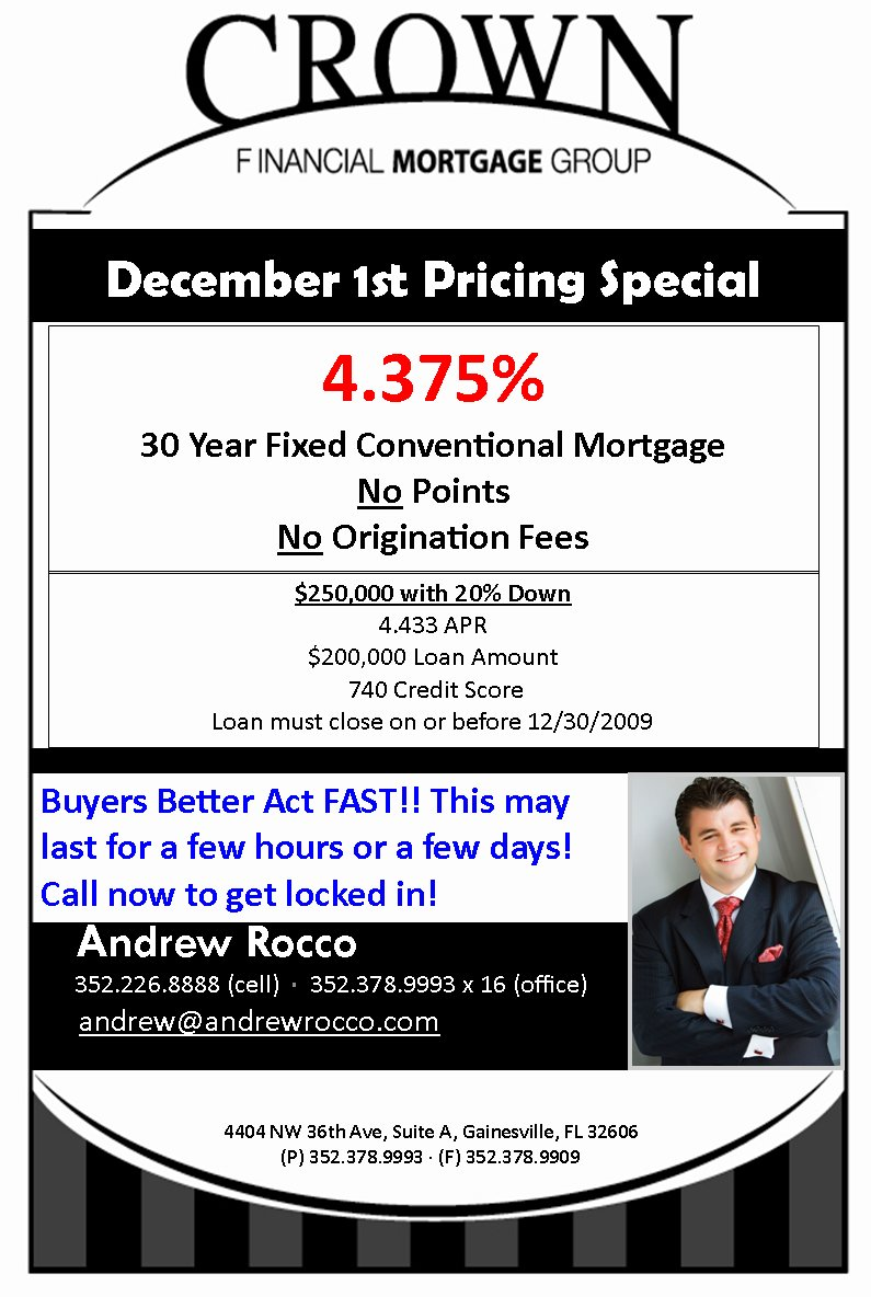 Offer from Crown Financial on Dec 1st